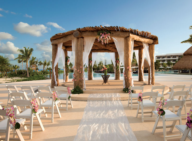 Wedding gazebo tan lines the official blog of secrets for Popular destination wedding locations
