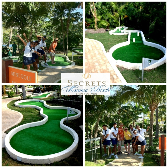 Enjoy Mini Golf at Secrets Maroma Beach!