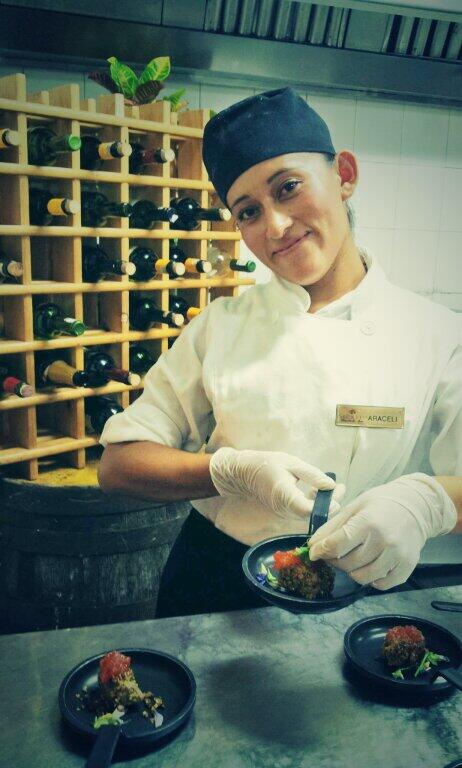 Chef Araceli shows off her most recent culinary creation!