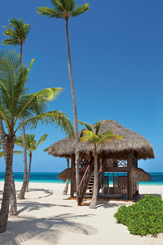 PREVIEW Private massage cabin is situated on the white sandy beach at Secrets Royal Beach.