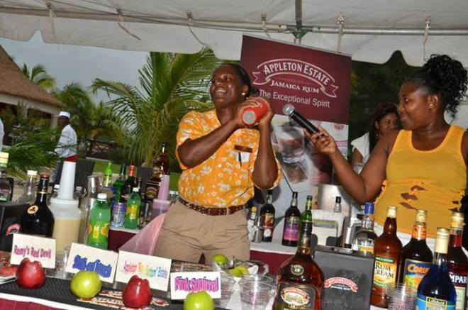 One of our talented bartenders shakes up the competition!