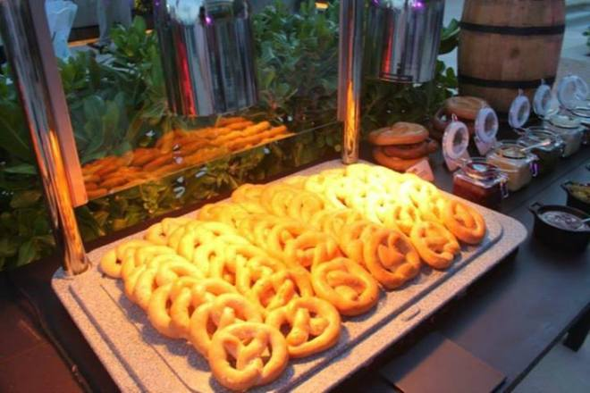Pretzels are only a small part of the delicious German cuisine served during AMR Oktoberfest.