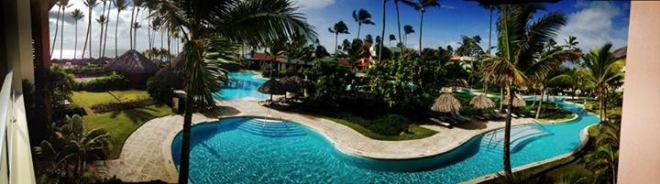 We love this panorama of the jewel-tone waters in the pool at Secrets Royal Beach, taken by recent guest Brian Stamm.