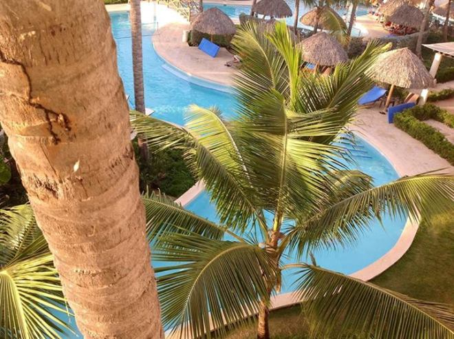 Guest Christina Muench was greeted every morning by the view of tropical palm trees outside her balcony.