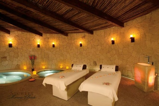 The spa at Secrets Maroma Beach offers everything from salon services to couples massages.