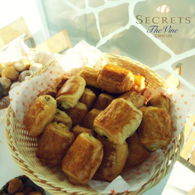 Chocolate croissants at Secrets The Vine Cancun
