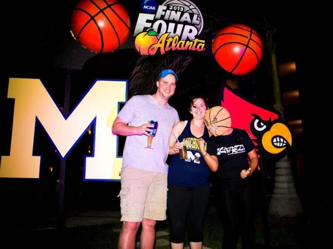 Some guests enjoying the Final Four games at Secrets Silversands Riviera Cancun.