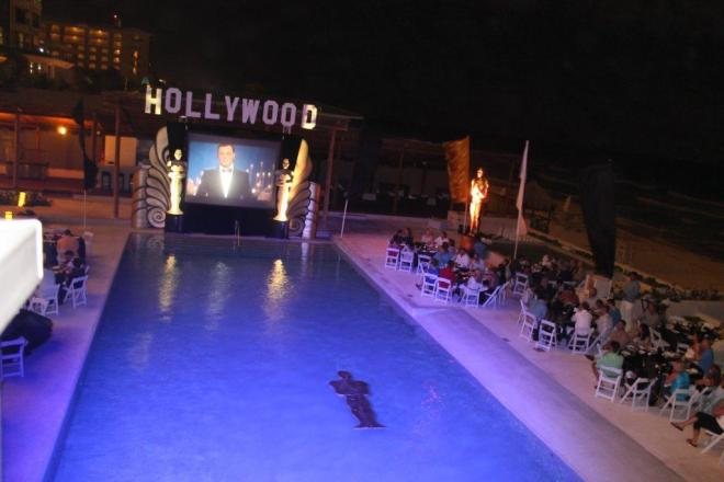 Guests at Secrets The Vine Cancun got to watch the Oscars on the big screen by the pool last year!