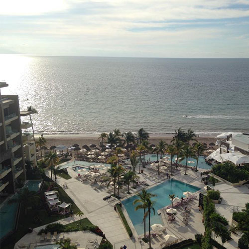 A gorgeous bird's eye view of Secrets Vallarta Bay Puerto Vallarta