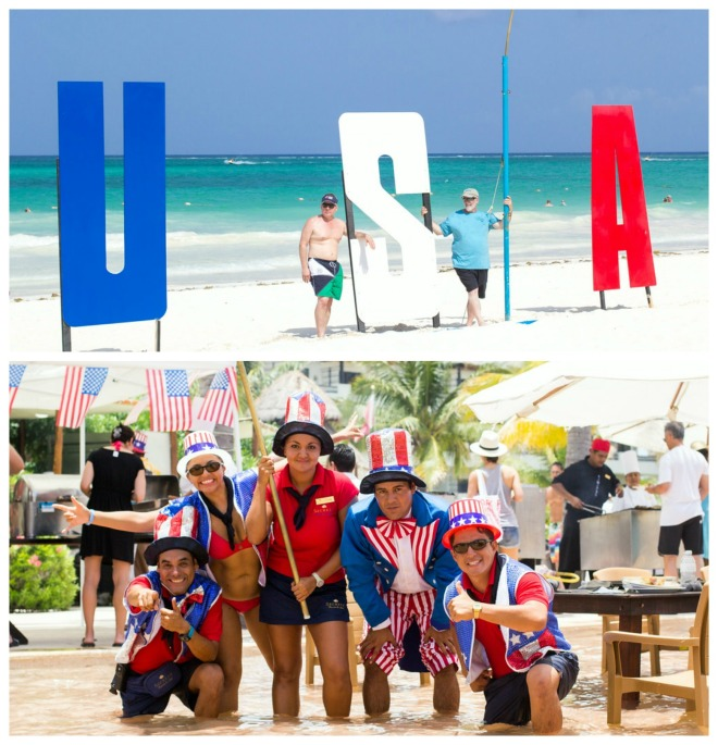 Decked out in the red, white & blue at Secrets Maroma Beach Riviera Cancun!
