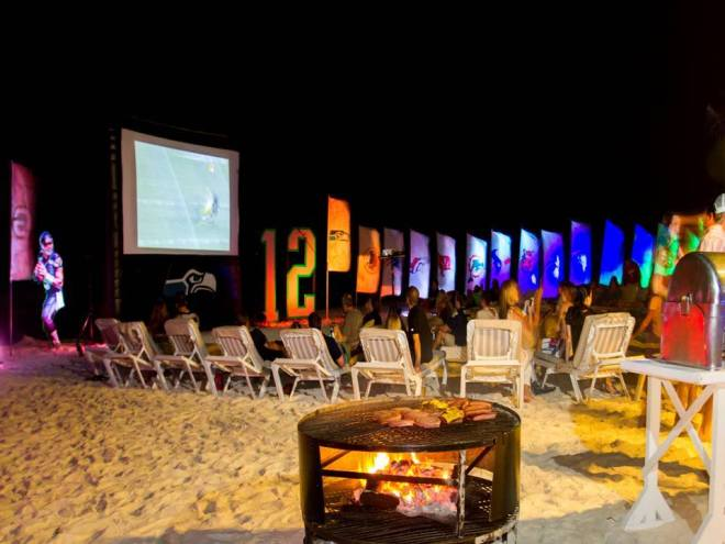 Everyone at Secrets Maroma Beach Riviera Cancun is ready for the game on the beach!