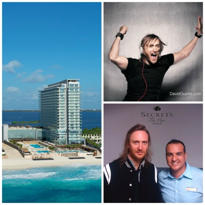 David Guetta &  Jorge Martínez, F&B Manager at Secrets The Vine!