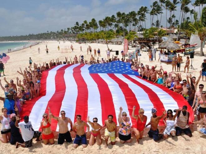 Everyone at Secrets Royal Beach Punta Cana got into the patriotic spirit last year!