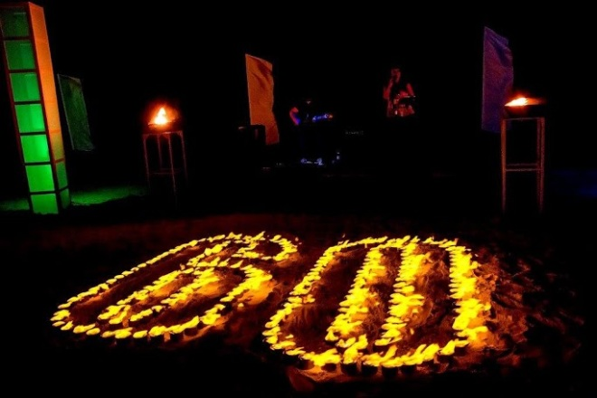 Earth Hour Maroma Beach