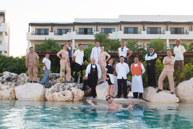 The all-star team at Secrets Maroma Beach Riviera Cancun!