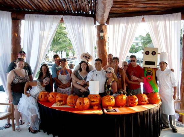 Secrets Maroma Beach shows off their spooky pumpkins for Halloween