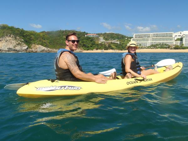 Chris and Michelle enjoy some honeymoon fun on the water at Secrets Huatulco Resort & Spa! Photo credit: chrisandmichelle14